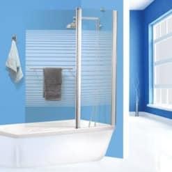 אמבטיון מיאמי פסים עם מתלה מגבת