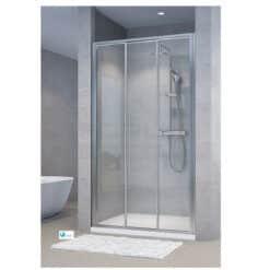 מקלחון חזית הזזה. דופן קבועה + 2 דלתות