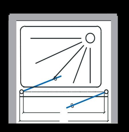 מקלחון חזית שחור שתי דלתות INOUT