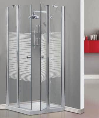 מקלחון פינתי דאלאס. 2 דפנות + 2 דלתות INOUT