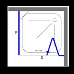 מקלחון פינתי שחור , קיר צד ודופן מתקפלת פנימה החוצה INOUT (הרמוניקה, אקורדיון)
