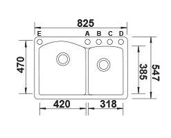 דיאמונד-1.75-שרטוט כיור מטבח בלנקו גרניט
