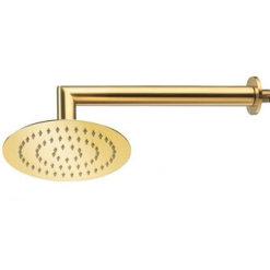 זרוע לראש מקלחת / ראש טוש זהב מבריק עם ראש תואם