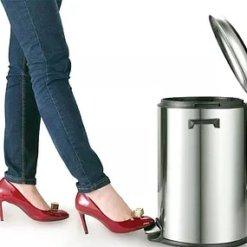 פח אשפה למטבח 20 ליטר ניקל מוברש
