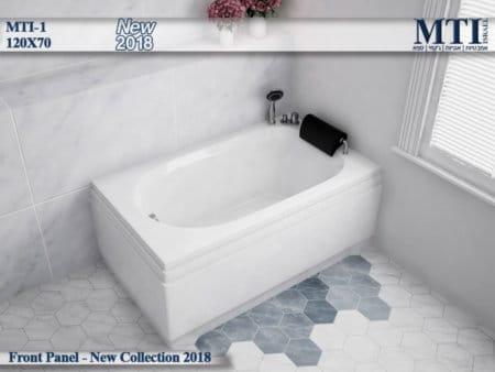 אמבטיה מלבנית אקרילית MTI-01 רוחב 70 אורך 120