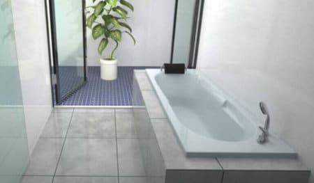 אמבטיה מלבנית אקרילית MTI-07 רוחב 70 ואורך 170