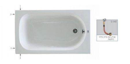 אמבטיית תוספות רוחב 70 אורך 120
