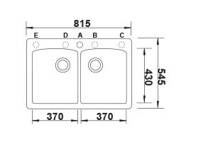 דיאמונד-2.1-שרטוט כיור מטבח
