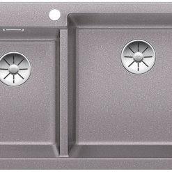 כיור מטבח בלנקו גרניט מחולק דגם פלאון 9 צבע אלומטליק