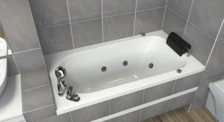 MTI-114 אמבטיה מלבנית אקרילית רוחב 70 אורך 140
