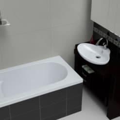 רוחב 70 אורך 140 MTI-25 אמבטיית ישיבה מלבנית אקרילית. אמבטיית ישיבה