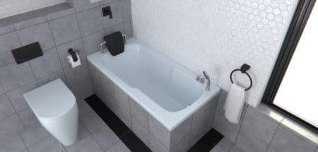 אמבטיה מלבנית אקרילית 70 אורך 140 MTI-81