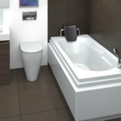 MTI-04 אמבטיה מלבנית אקרילית מעוצבת רוחב 70 ואורך 150