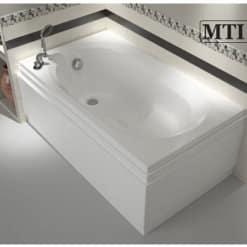 MTI-24 רוחב 70 ואורך 120 אמבטיה מלבנית אקרילית