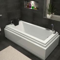MTI-60 אמבטיה מלבנית אקרילית עם פאנל אקרילי רוחב 70 ואורך 150 (1)