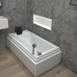 MTI-91 אמבטיה מלבנית אקרילית רוחב 70 ואורך 150