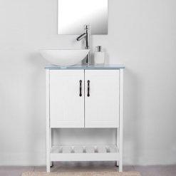 ארון אמבטיה עומק 30 סמ קומו רוחב 60 עומד לבן