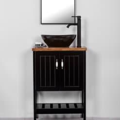 ארון אמבטיה עומק 30 סמ קומו רוחב 60 עומד שחור
