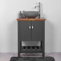 ארון אמבטיה 60 עומד נאפולי אפור