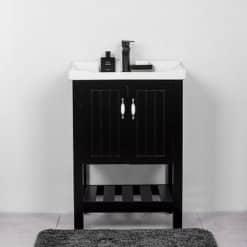 ארון אמבטיה 60 עומד נאפולי שחור