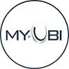 מיובי לוגו. MYUBI יבואנית אסלה תלויה, מושב הידראולי