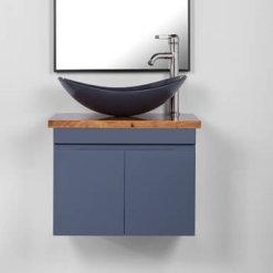 ארון אמבטיה עומק 40 סמ רוחב 60 סמ תלוי דגם יהלום אפור