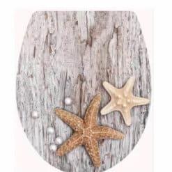 מושב אסלה צבעוני אלמוגים על עץ