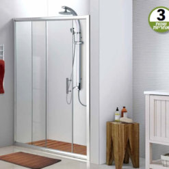 מקלחון הזזה חזית - דלת אחת - 100 עד 135 סמ