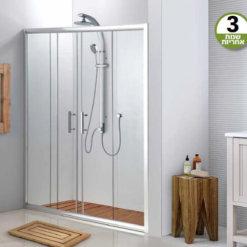 מקלחון הזזה חזית 2 דלתות 135 עד 180